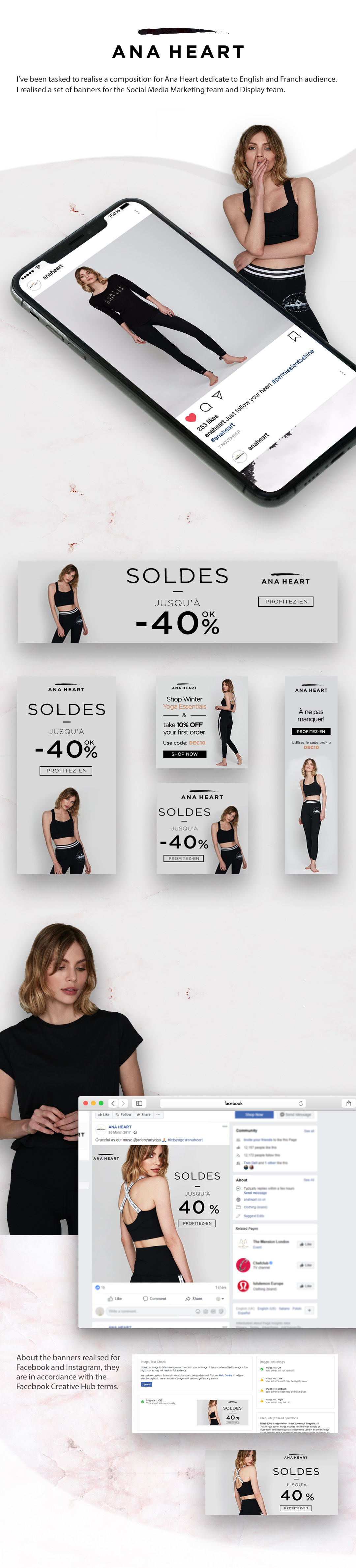 Fashion  ana heart banners Advertising  ads