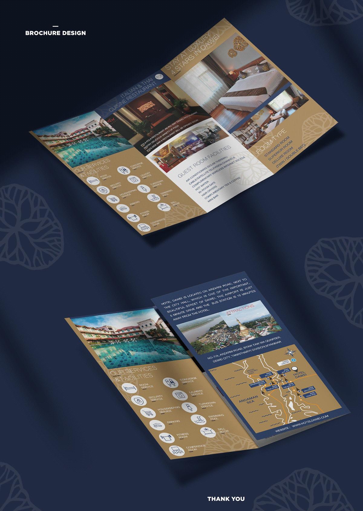 brochure design design hotel leaflet print design  Printing