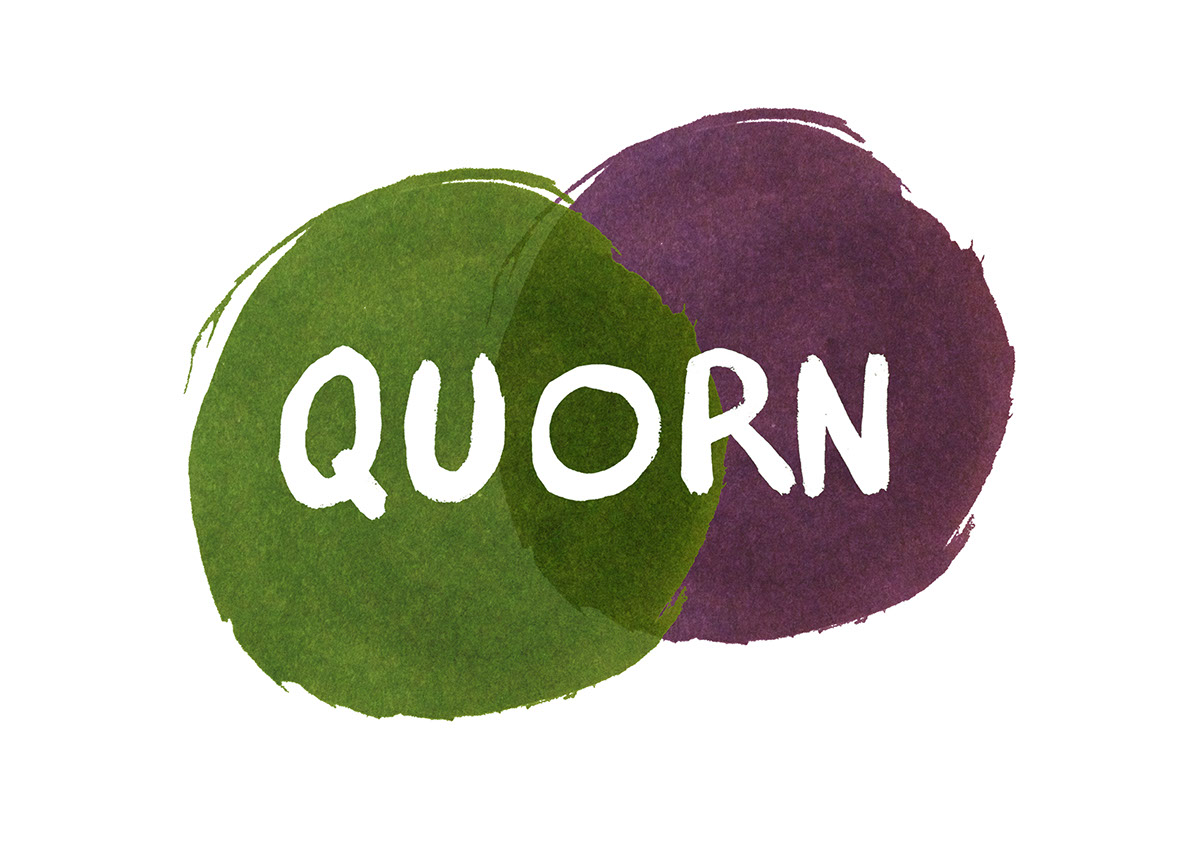 Rebranding quorn on behance i created a logo using ink forming two circles that represent a venn diagram the green represents vegetarians and the purple represents carnivores pooptronica