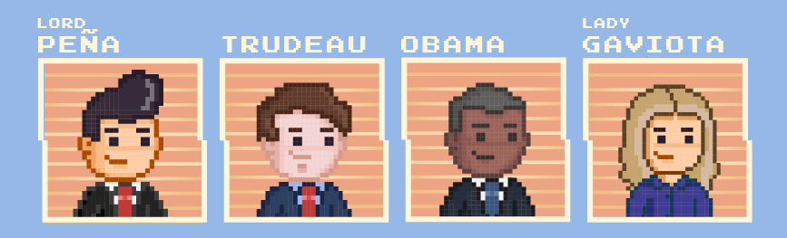 Pixel art peña nieto ocho momentos 8 bits calavera Creativa animacion animation  presidente