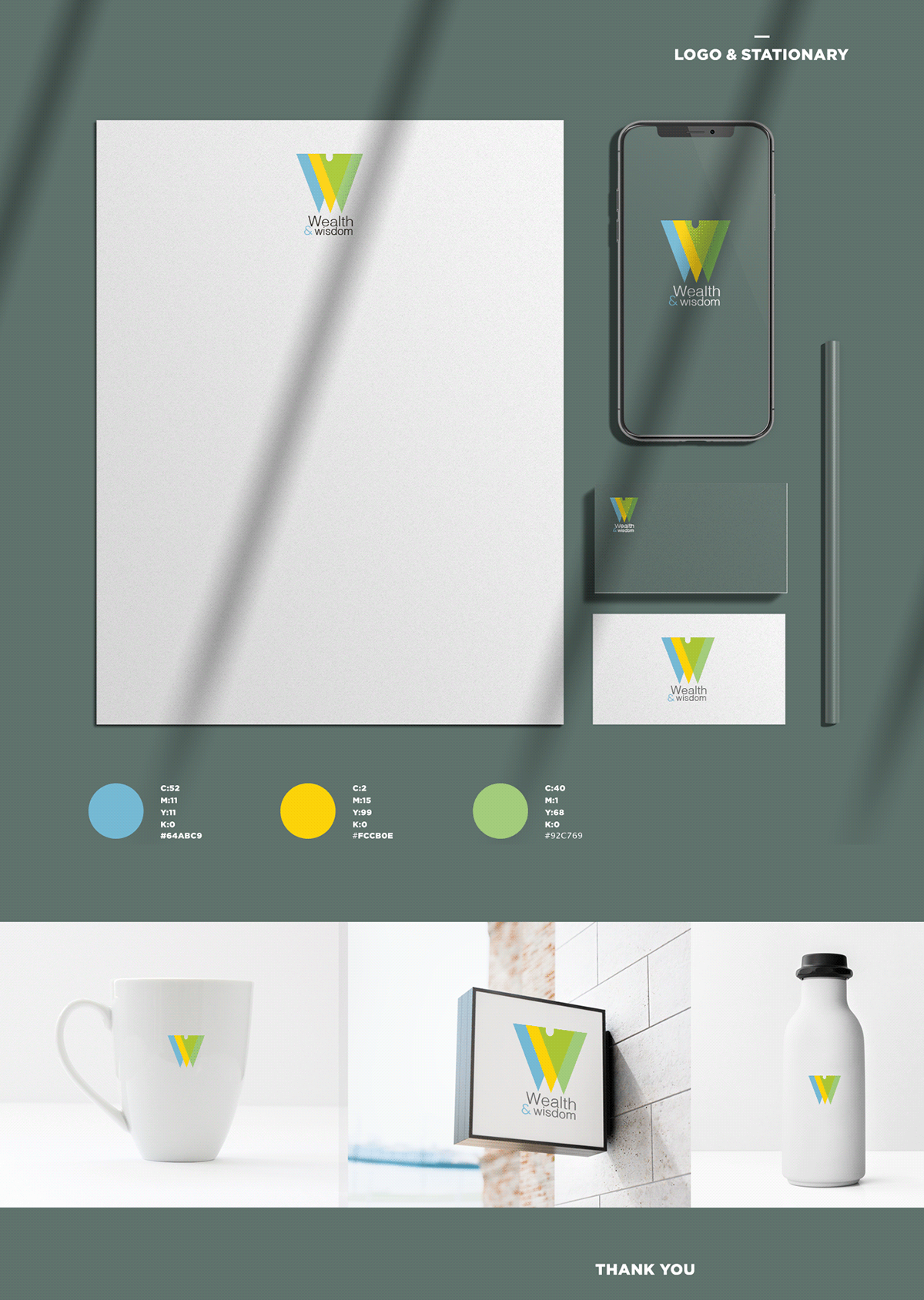 corparate Corporate Identity graphic design  green logo Logo Design namecard sign stationary