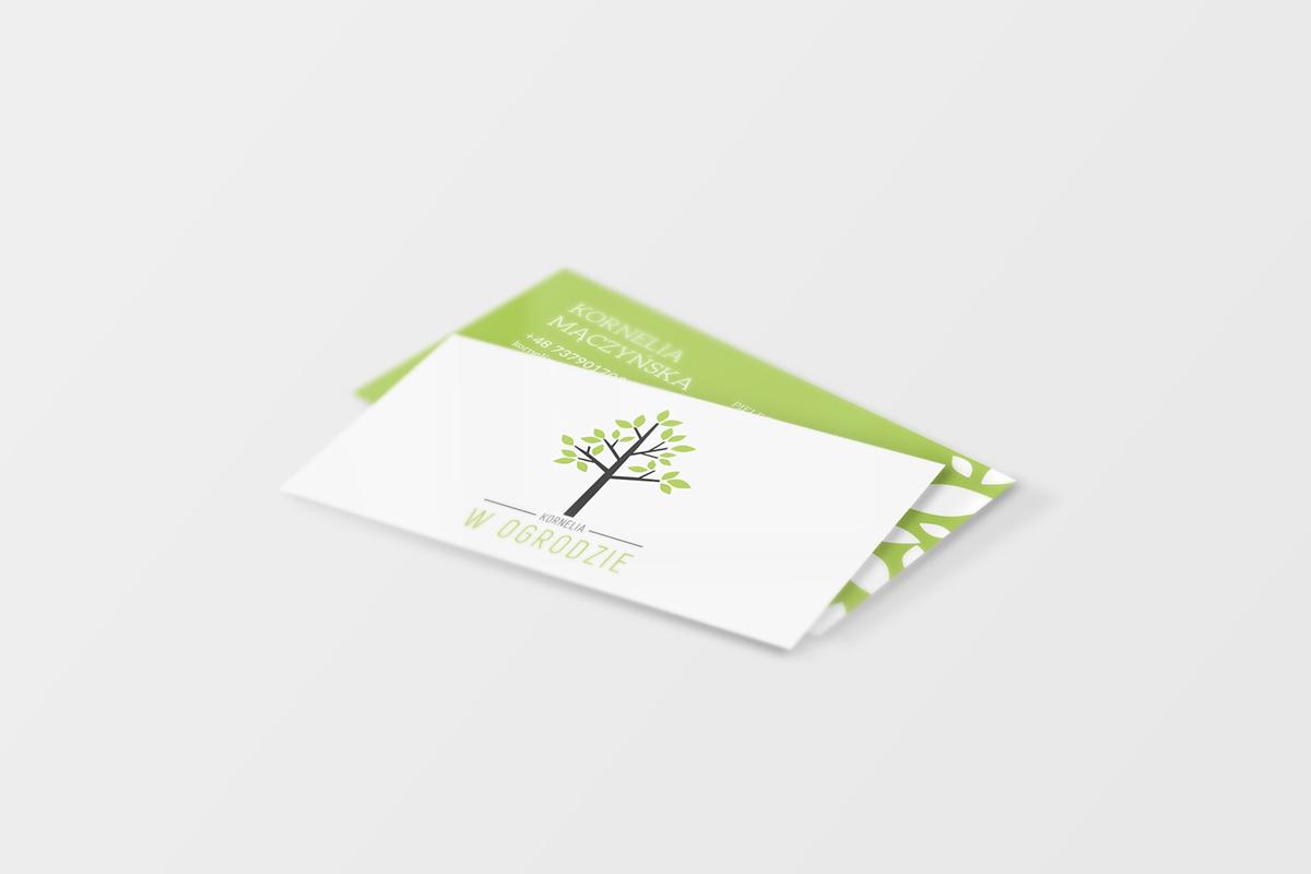 Business Card And Logo Design For Gardening Company U0027Kornelia W Ogrodzieu0027  Based In Poland.