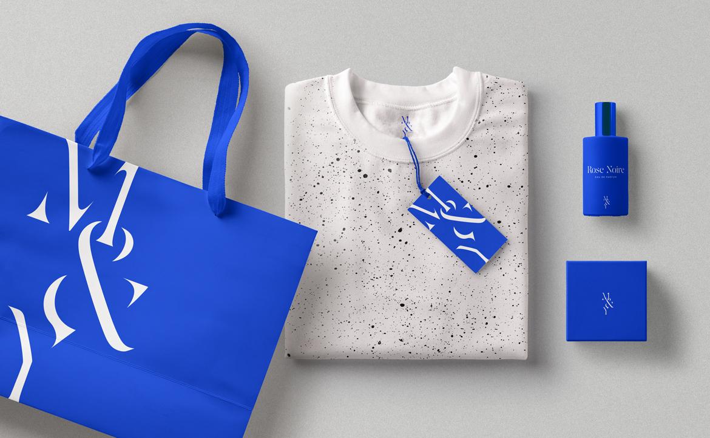 fashion brand blog design ik blue blue branding  modern