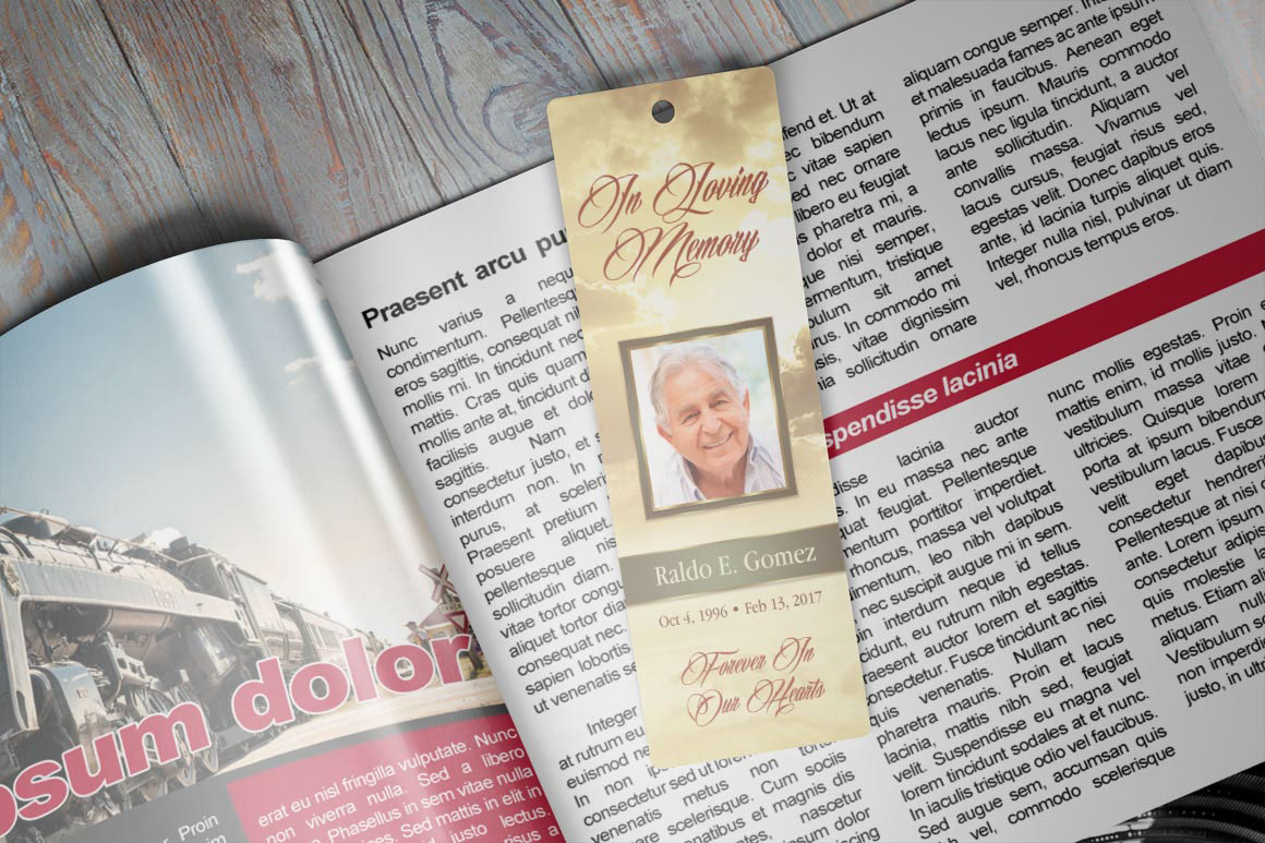 Forever Funeral Bookmark Template On Behance