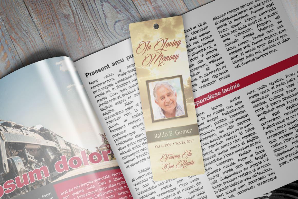 funeral bookmark