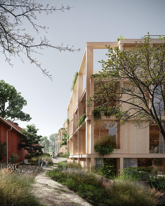 3D architecture archviz art CGI Competition exterior ILLUSTRATION  rendering vegetation