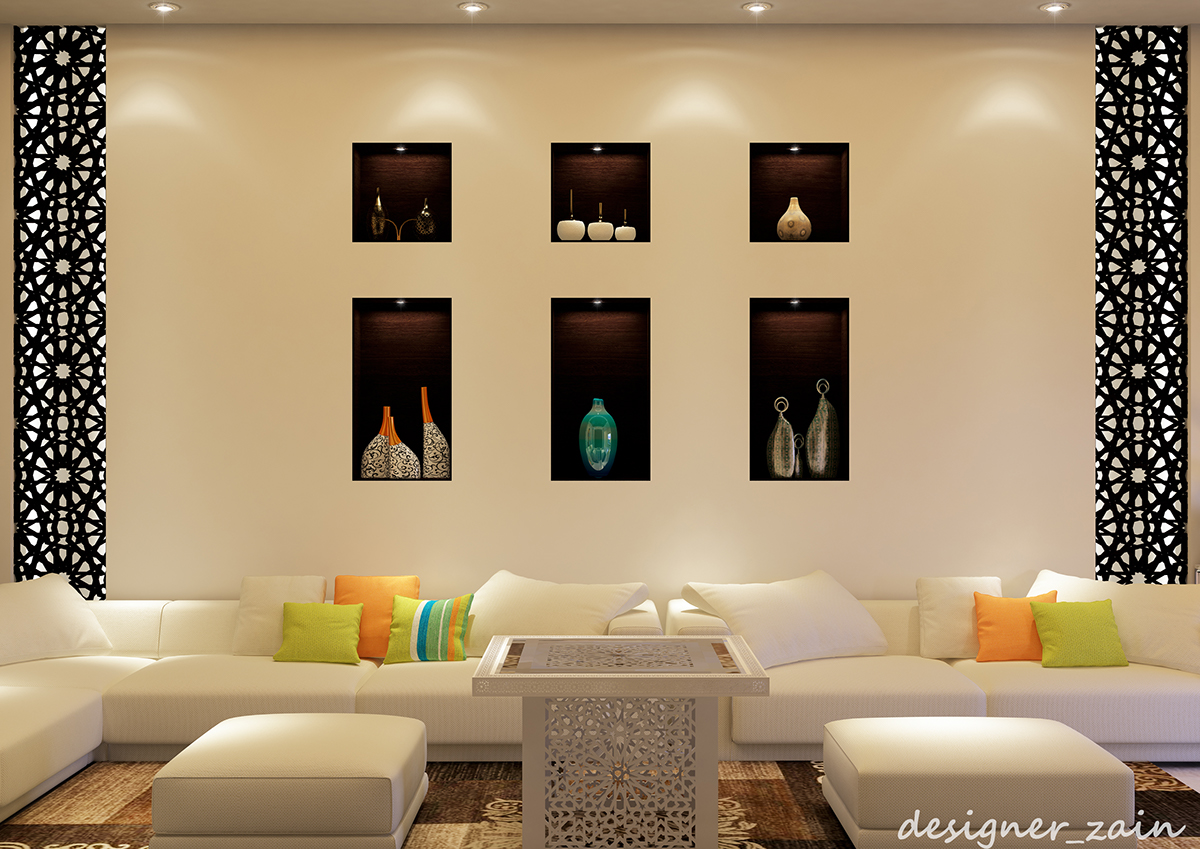 modern islamic living room for women on Behance