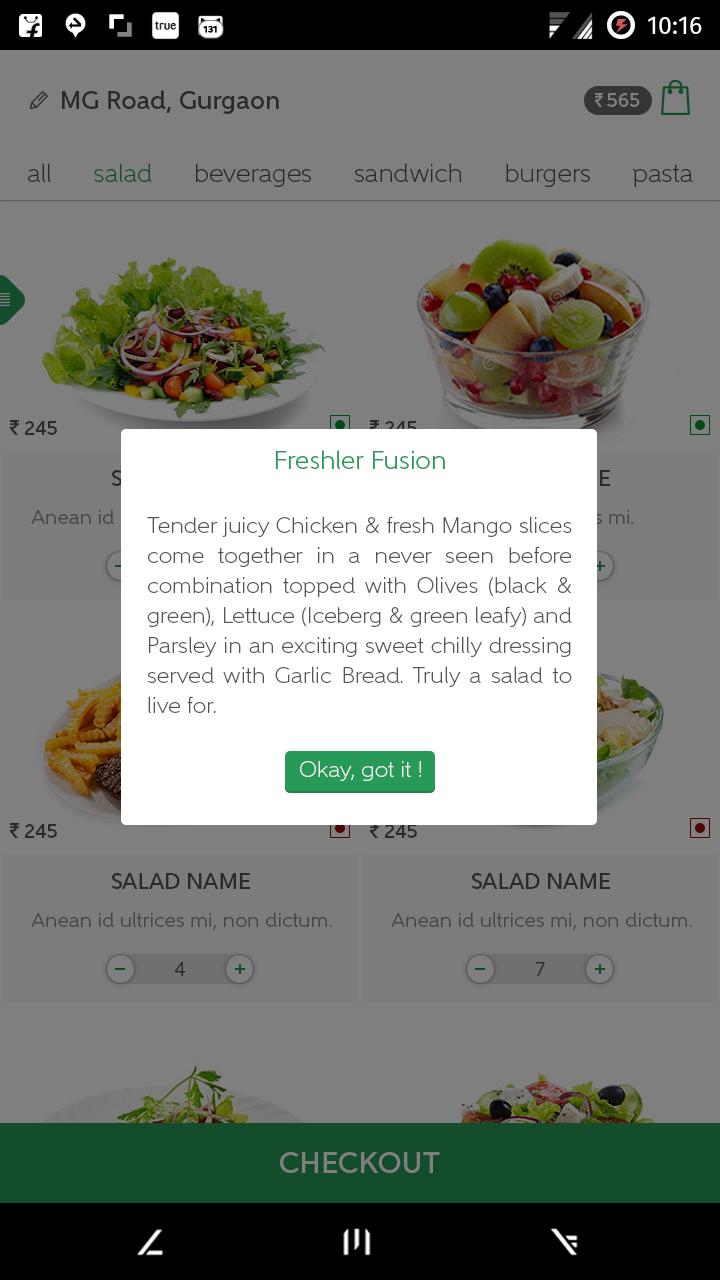 Android App UI iOS App UI