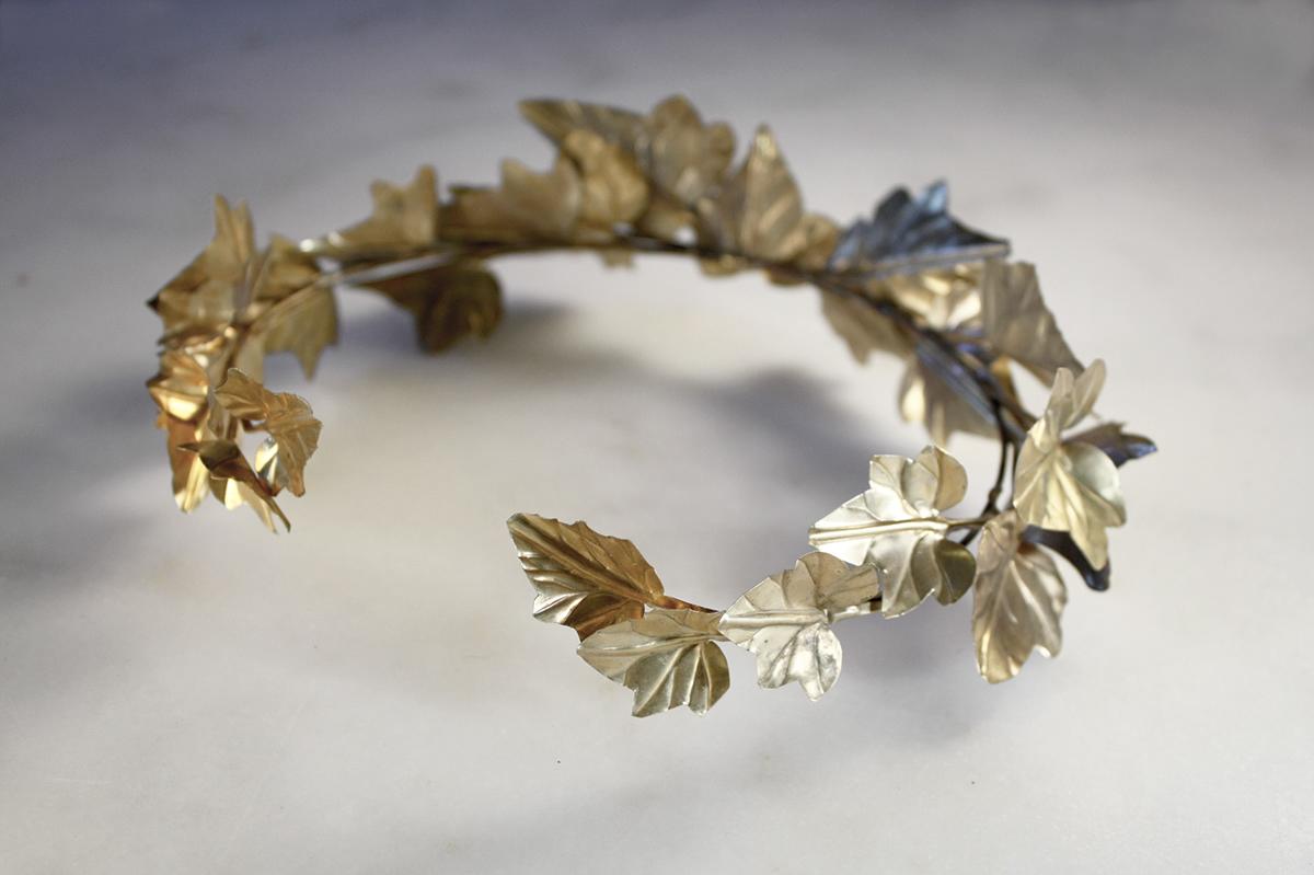 crown floral crown gold wreath greek crowns headwear wreath