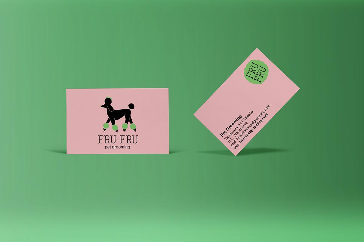 branding  dog graphic design Trikala grooming Joanna Jelly logo Logo Design Pet pet grooming Trikala