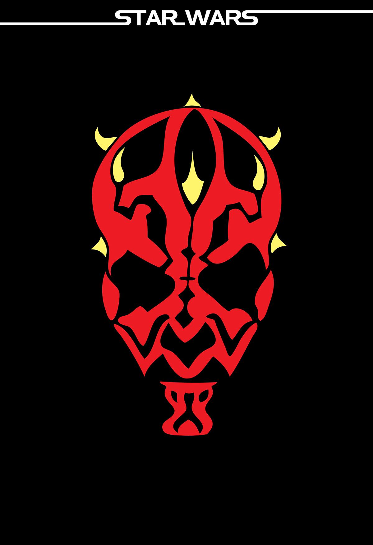 darth vader helmet silhouette