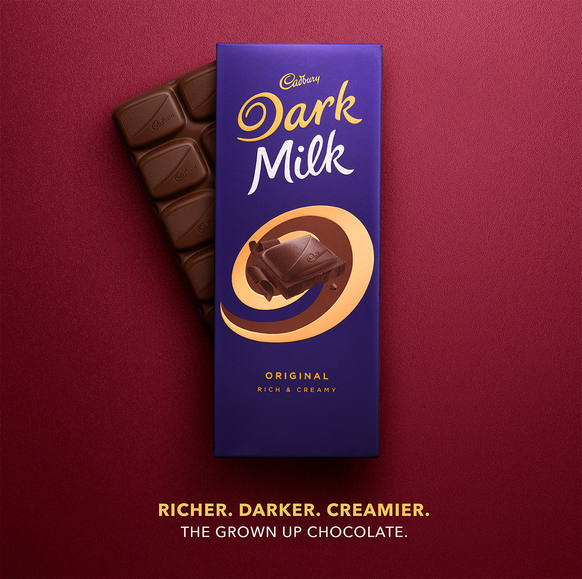 Cadbury Dark Milk On Behance