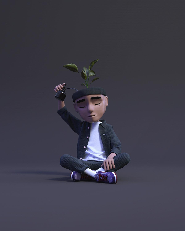 3D art direction  Character design  cinema 4d ILLUSTRATION