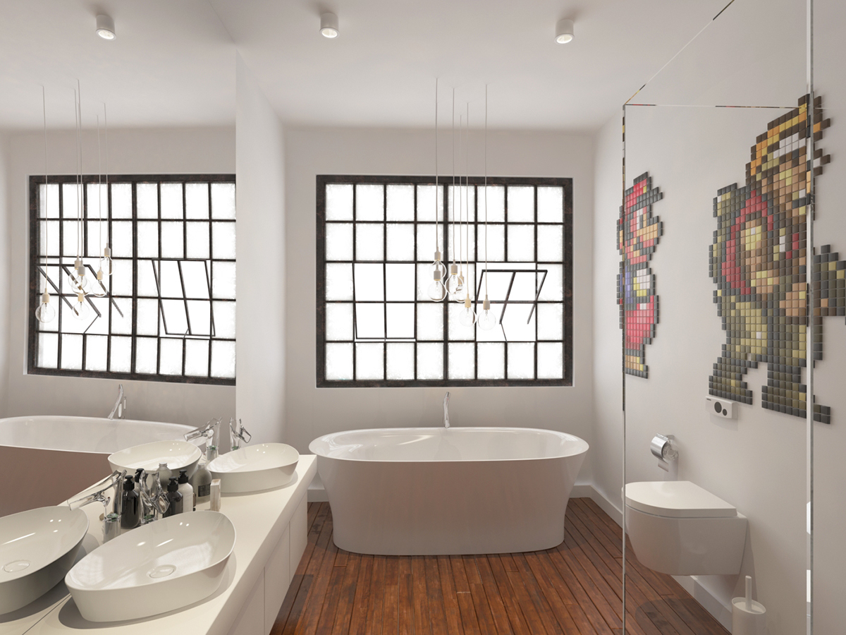 BATHROOM x VIDEOGAMES TRIBUTE on Pantone Canvas Gallery
