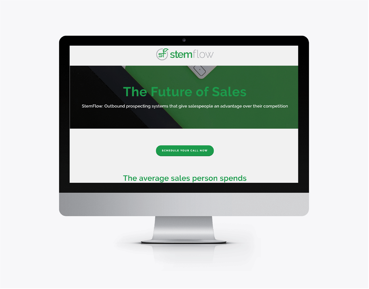 Website Design on Squarespace for Sales Consultancy