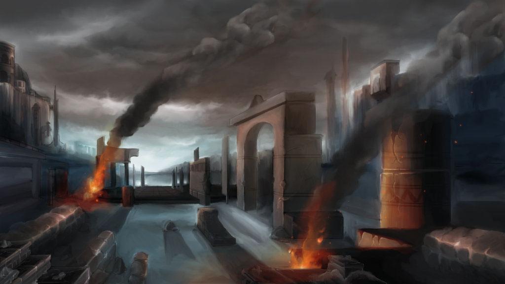 Ruins - illustration, environment - juliastorybored | ello