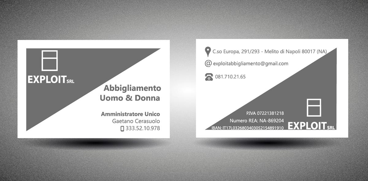 business card biglietto da visita PC Abbigliamento pubblicita grafica grafico design graphic visit card card