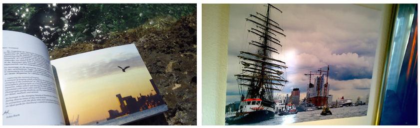 fotografien Verkauf galeriequalität hamburg elbe natur Leder-rahmen handmade Kaufen originale