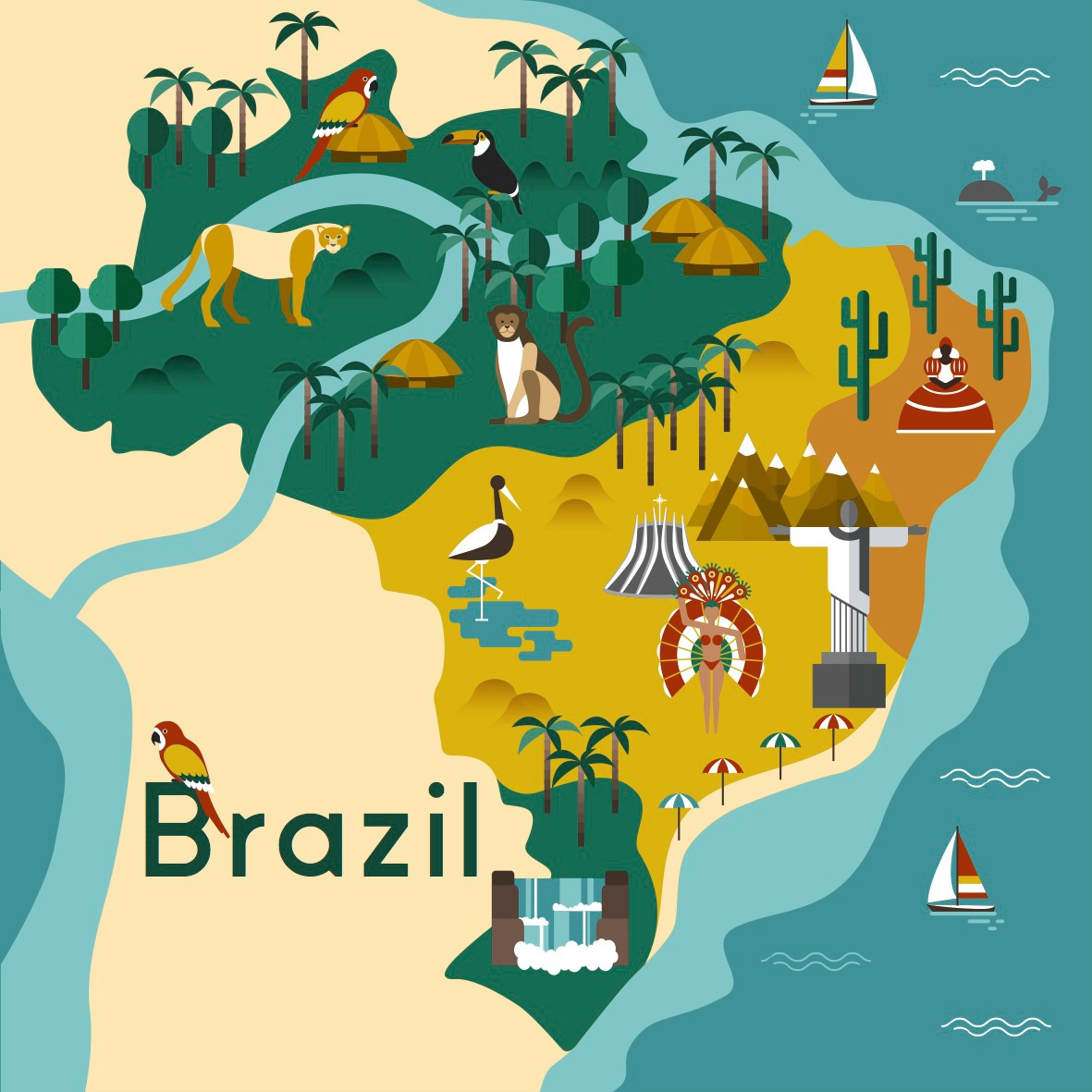 Brazil map on Behance