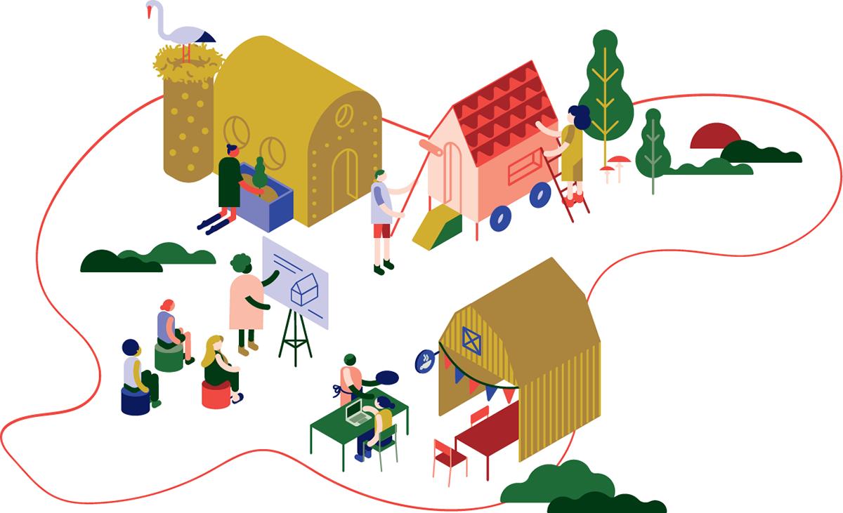 graphic design  ILLUSTRATION  Sustainability vector