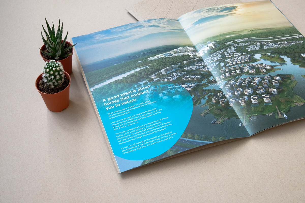 brochure branding  Identity Design Kraft phone dock eco-friendly