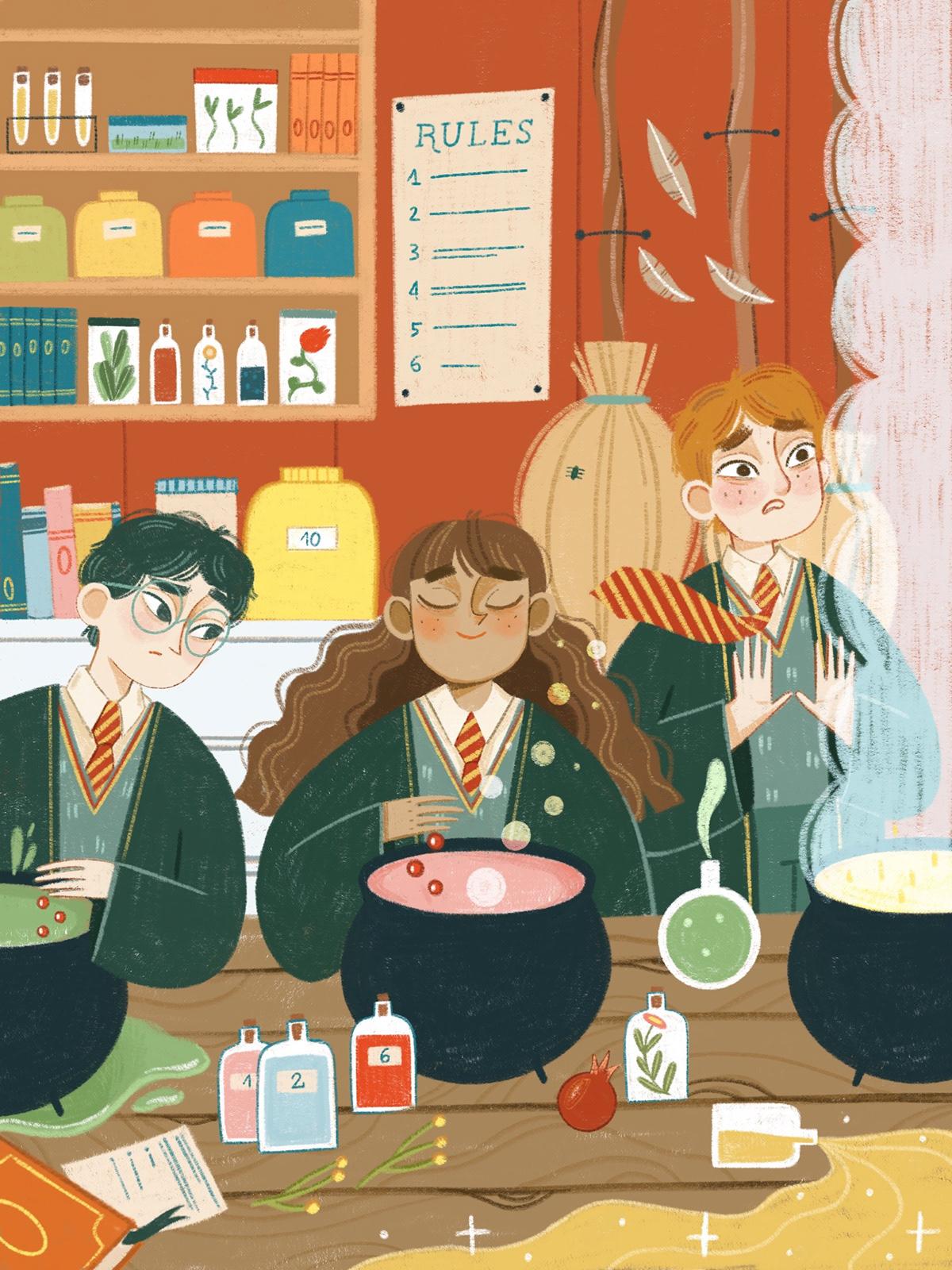 art children books children illustration digital illustration harry potter illustratice ILLUSTRATION  illustratori italiani illustrazione kid lit