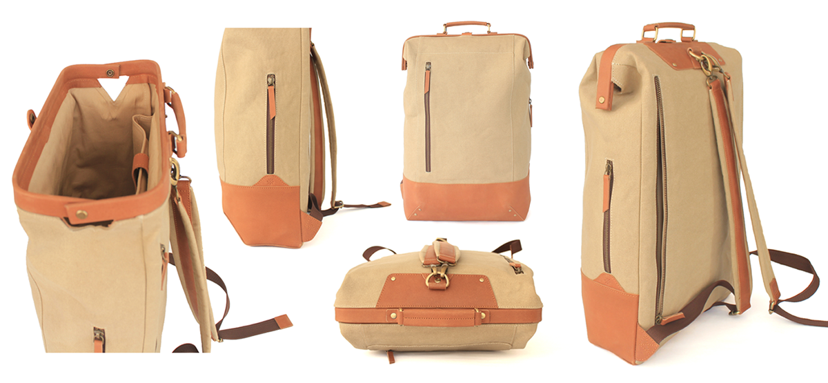 new release rock-bottom price cute Doctor Backpack - Canvas and leather on Behance