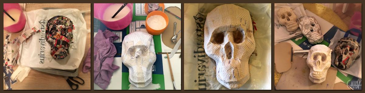 Papier Mache skull decorative wall item hand made decoration ornaments dia de los muertos da of the dead calavera