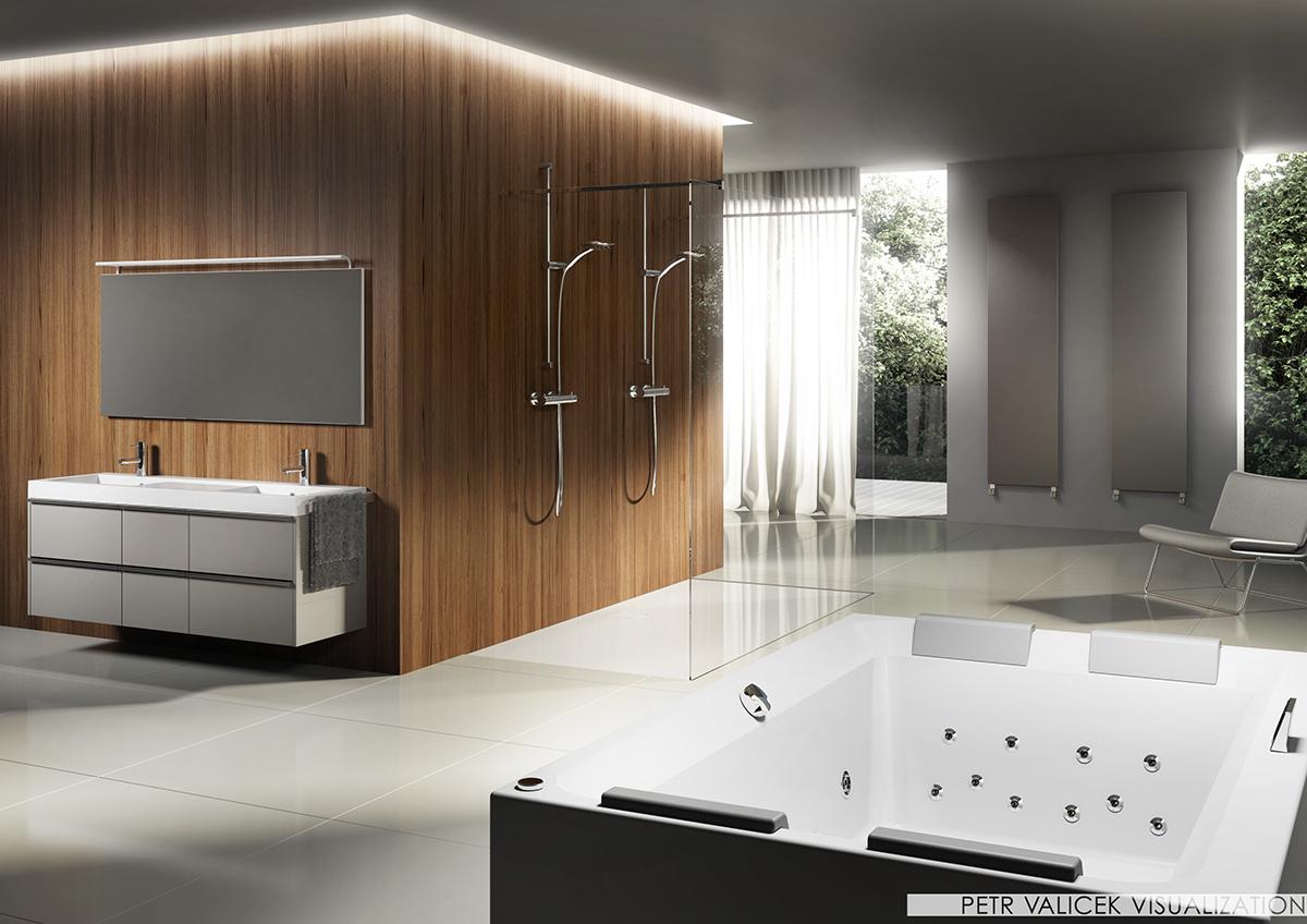 riho bath furniture Steam thermae design Interior visualization