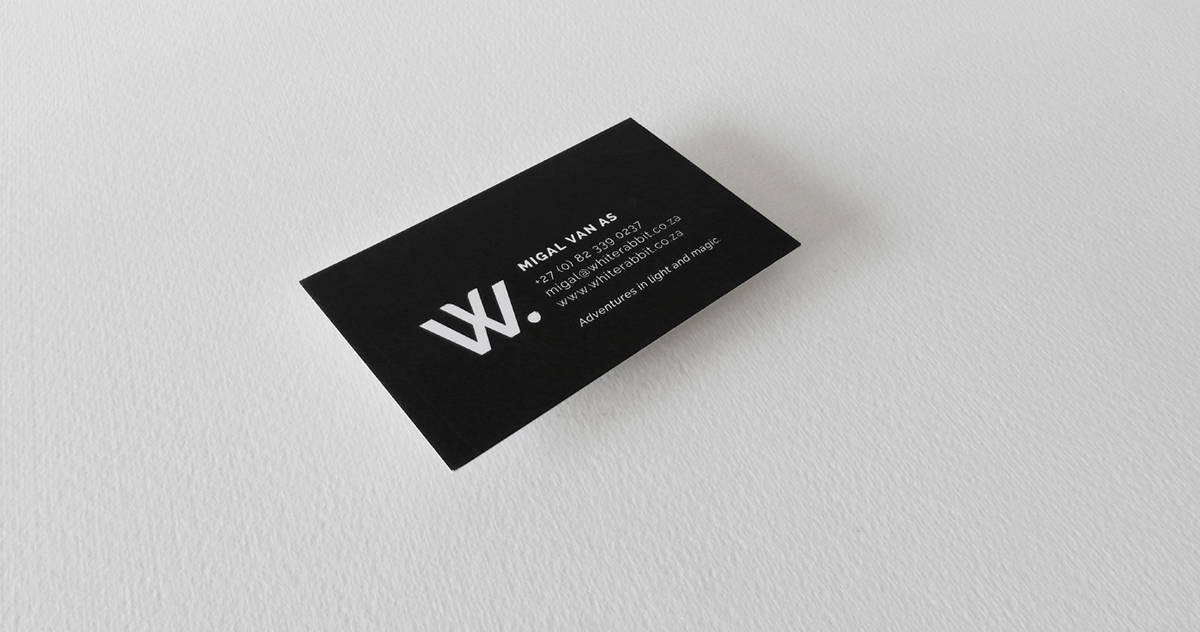White Rabbit Business Cards on Student Show