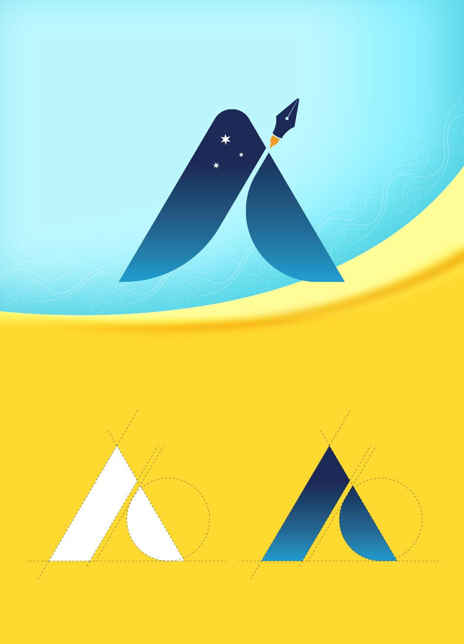 branding - logo design designer logo space logo Pen tool