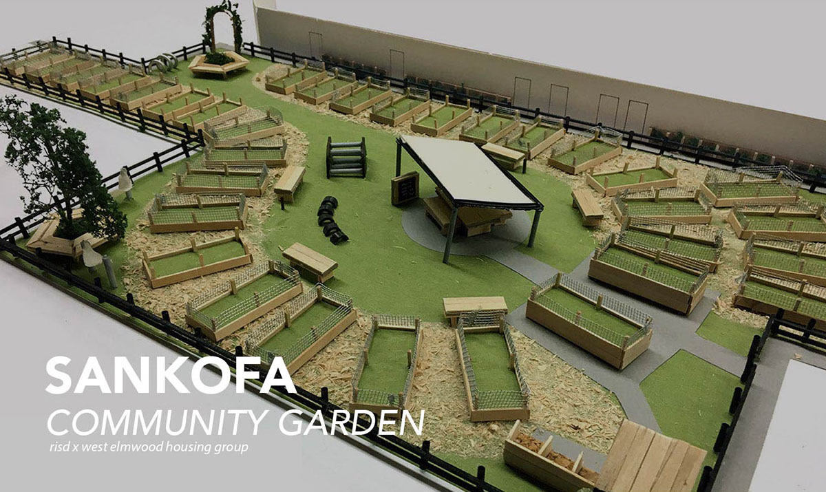 Sankofa community garden design on risd portfolios for Community garden designs