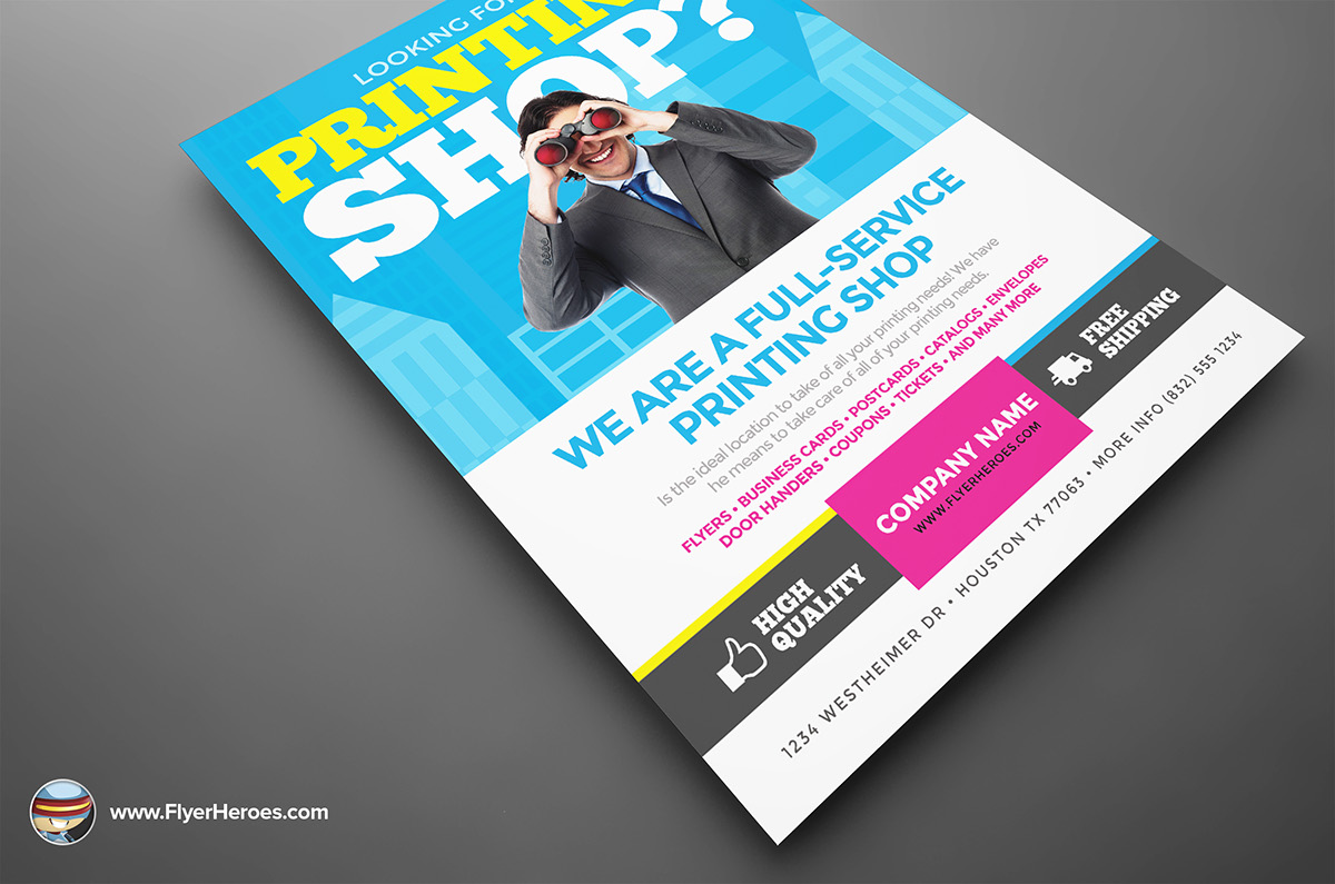 printing services flyer template on behance printing services flyer template from flyerheroes is fully editable photoshop psds once you have ed this template using adobe photoshop cs4 you