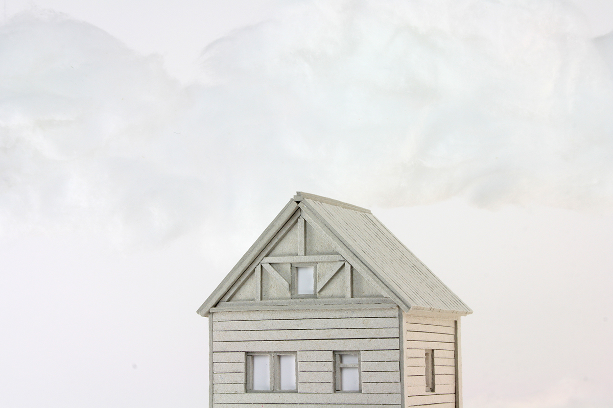cardboard nightlight lifeincardboard house Miniature model paper mountain