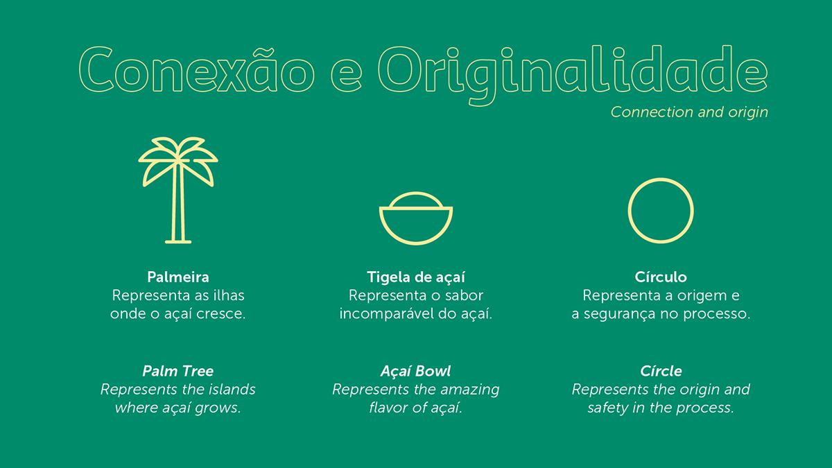 acai Amazon amazonia Brasil Brazil embalagem logo Packaging Sorbet visual identity