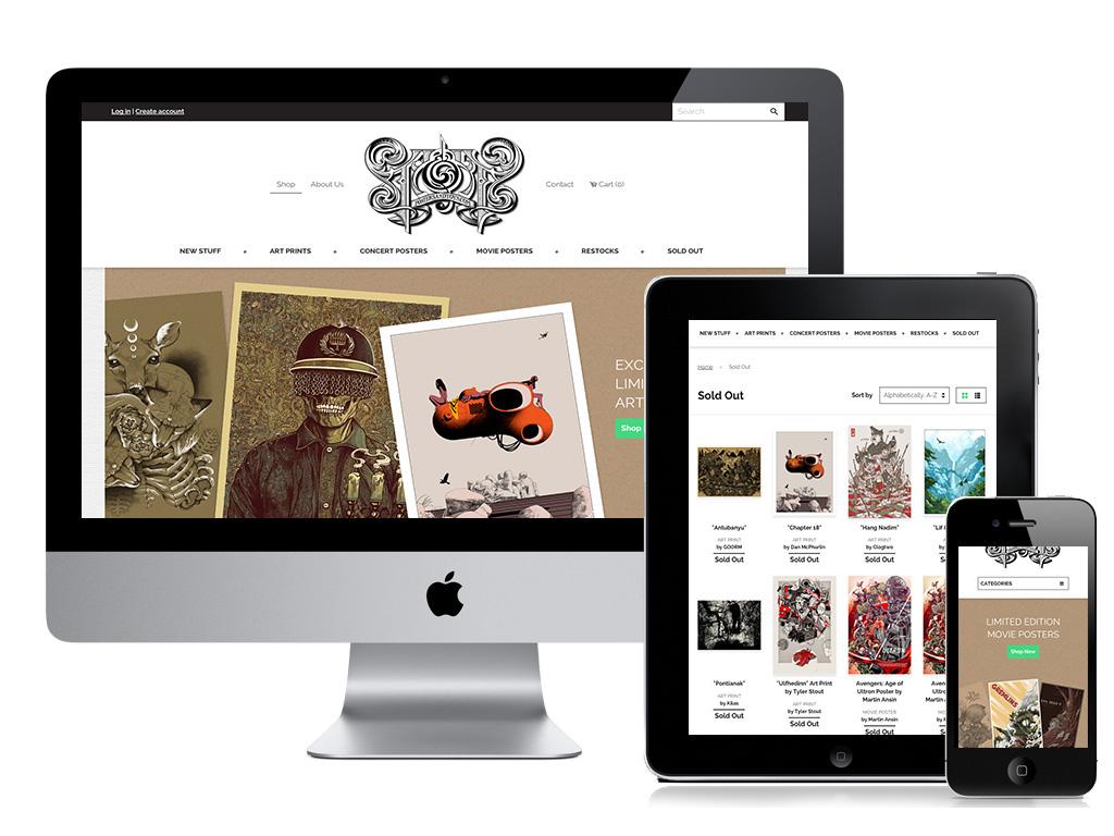 Responsive web design Shopify e-commerce