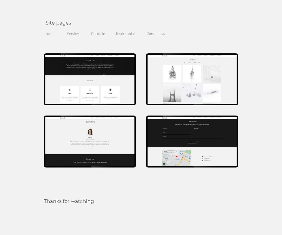 design portfolio template html5 css3 JavaScript bootatrap Responsive One Page modern