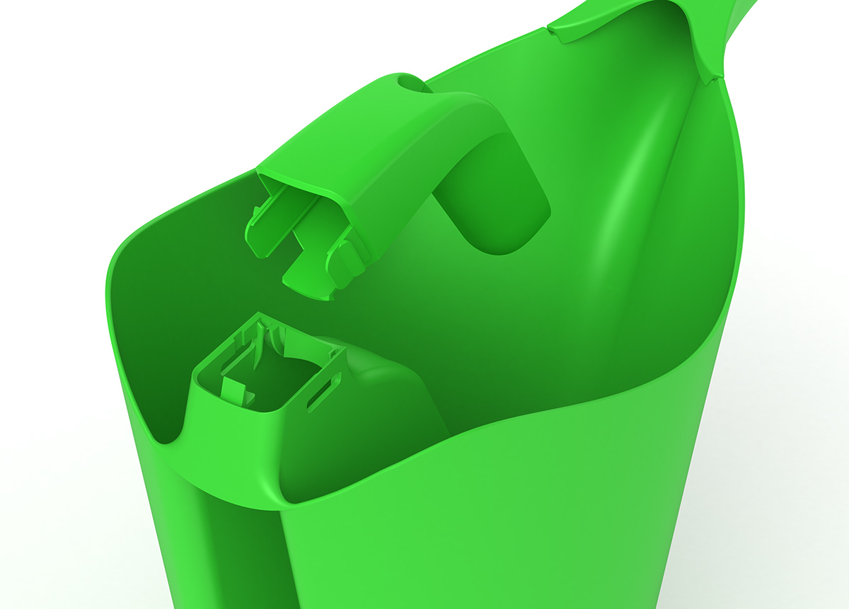 design watering can 3D Rhinoceros cad injection modling