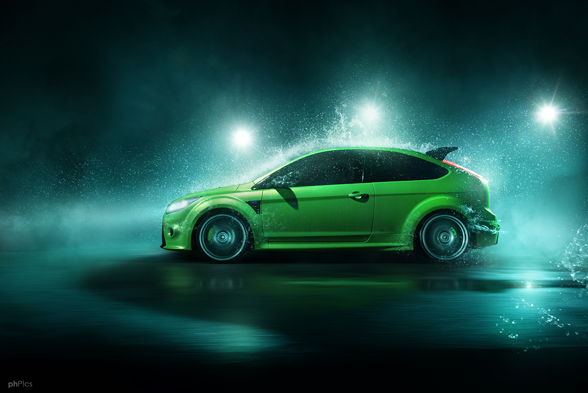 ford focus rs mk2 waterseries on behance. Black Bedroom Furniture Sets. Home Design Ideas