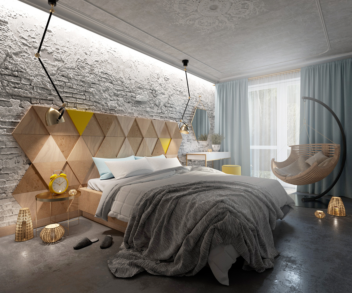 Bedroom cinema 4d corona on behance for Cinema 4d architecture