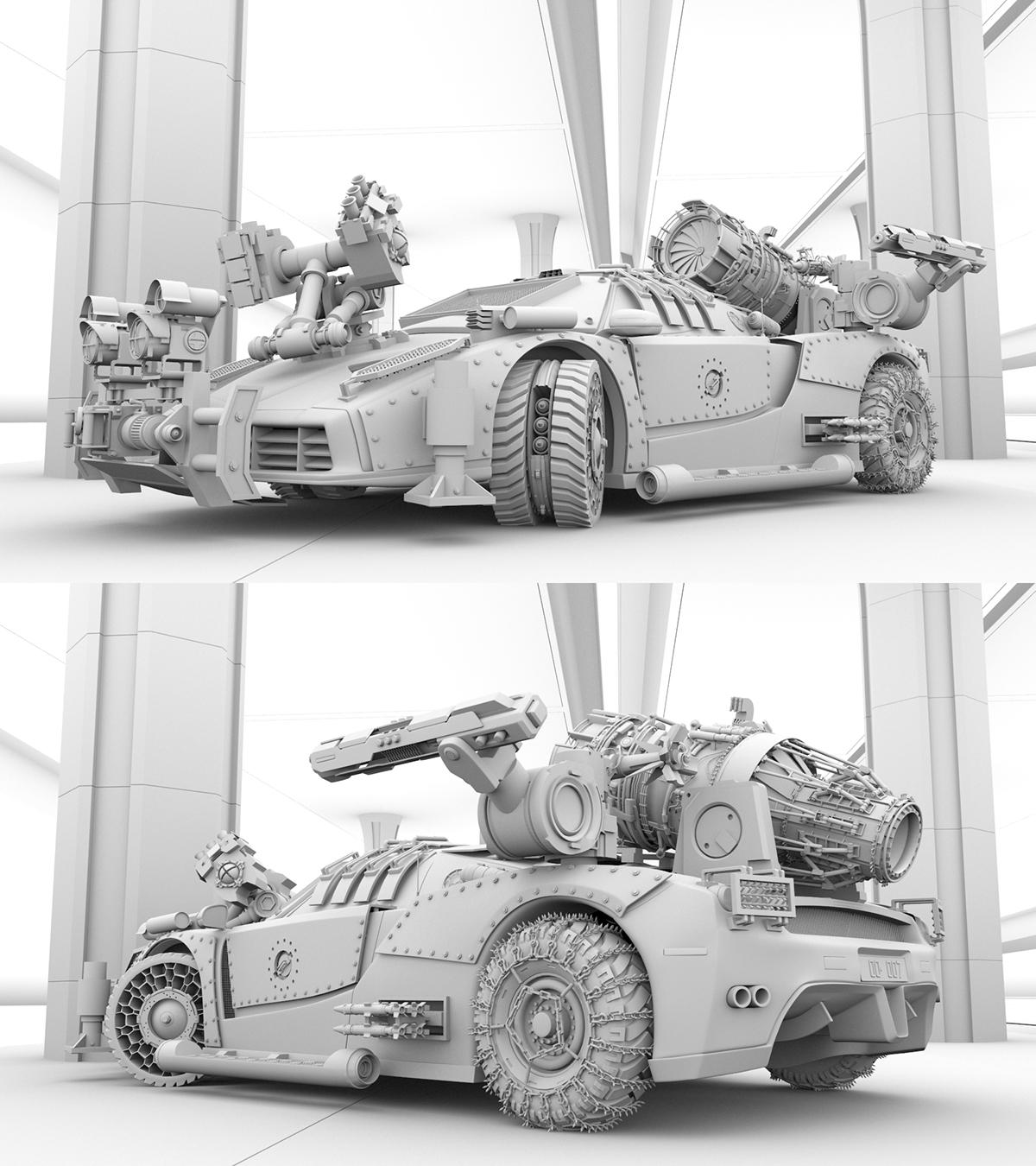 Zombie Killer car Zombie proof Anti Zombies v-ray for maya 3D APA Member Pantone Canvas The National Design AIGA member SAIC