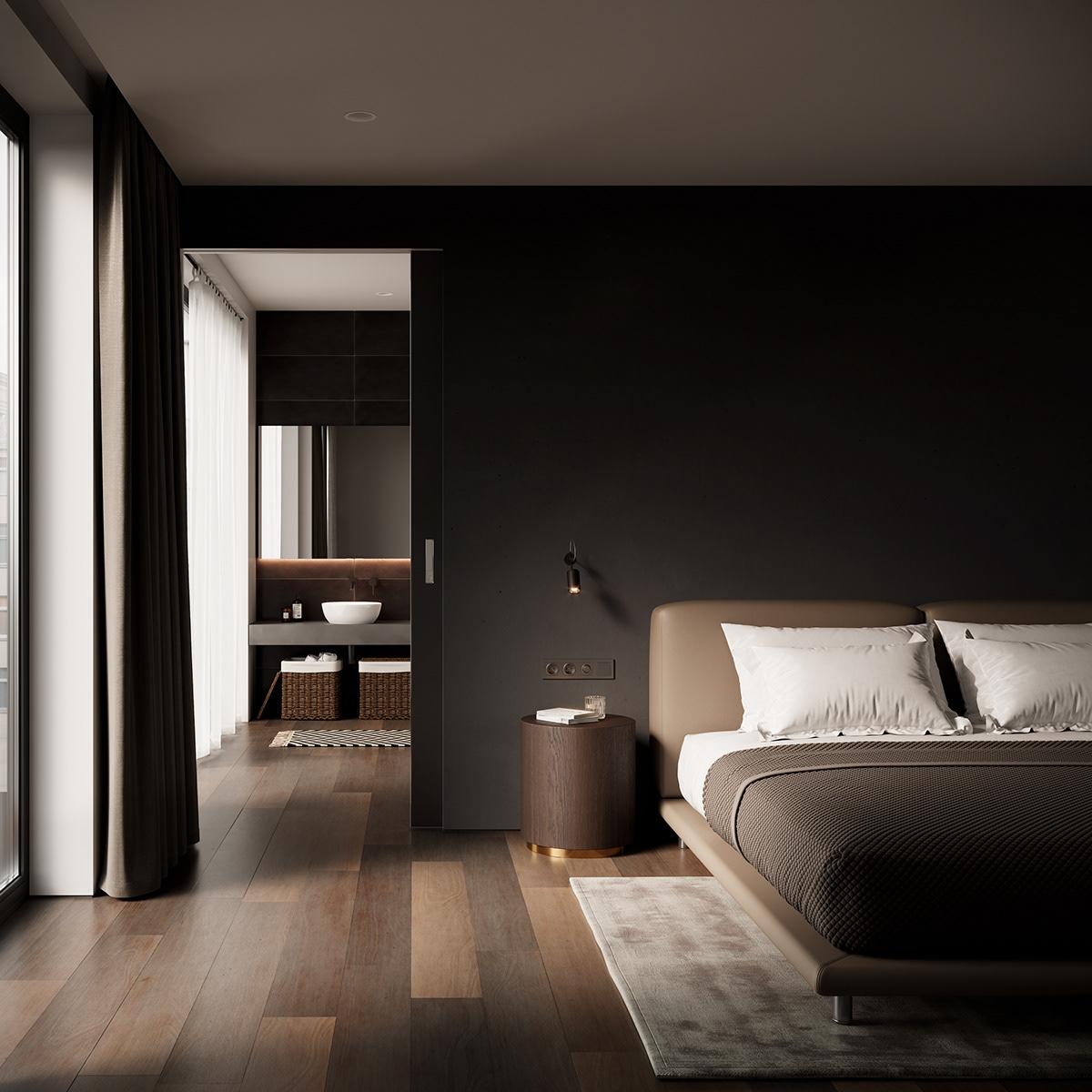 Dark Bedroom On Behance