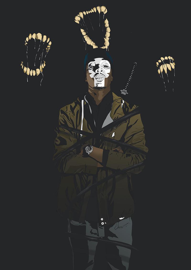 black steel Sword comics fight evil dark darkness zombie monster Scary death