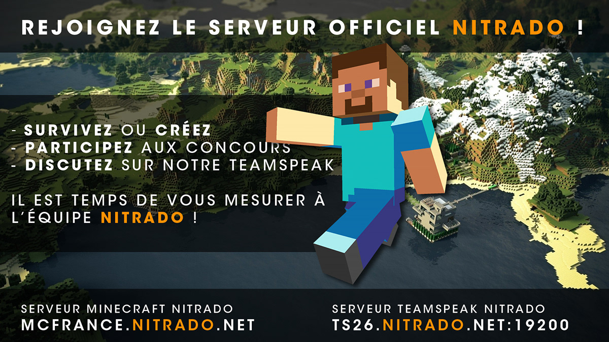 Nitrado Minecraft Server on Behance