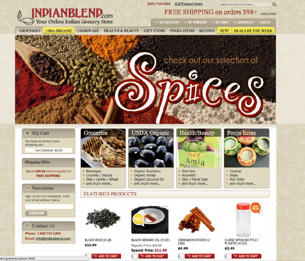 IndianBlend com on Behance