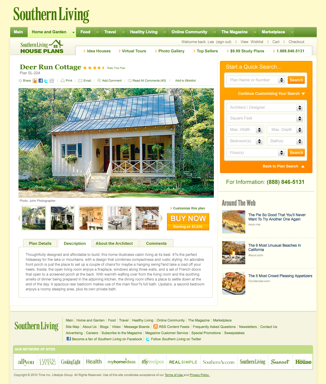 Superieur UI Design, CSS And Html Of House Plans Marketplace Templates. Designed To  Nest And Function Seamlessly Within SouthernLiving, Sunset, MyHomeIdeas And  ...