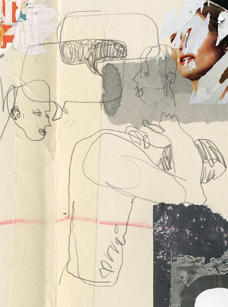blind drawing,collage,communication,Disease,Drawing ,drawings,Retro,sketch,sketchbook,society