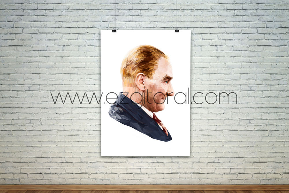 polygon Mustafa Kemal Atatürk Ataturk adobe illustrator 29Ekim lowpoly cumhuriyet mustafa kemal 19 mayis 23 nisan