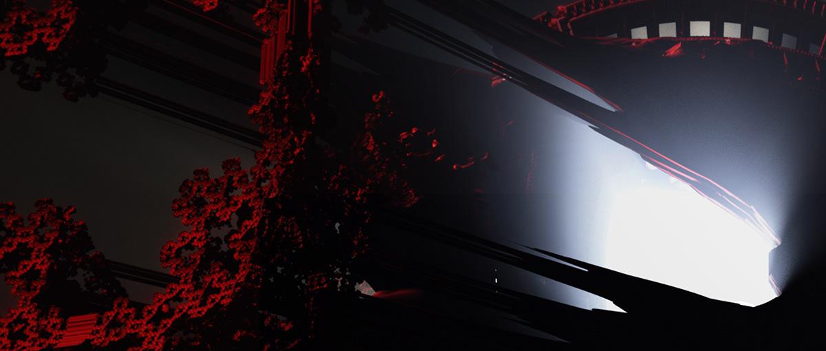 vfx CGI fractals ai creative coding abandoned Dystopian