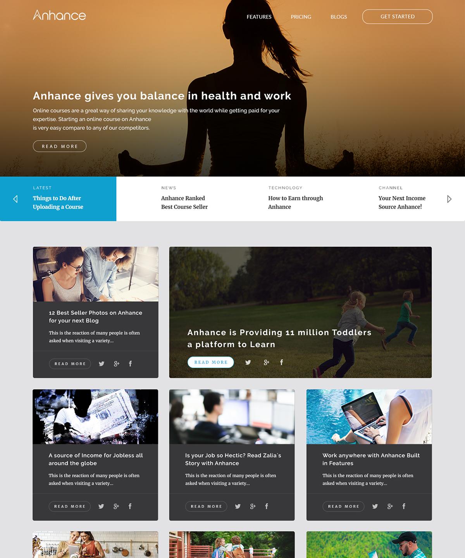 sell earn Make Money design mock Blog psd